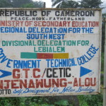 Njenawung school sign