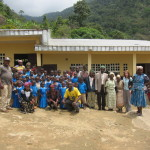 Njilap community with the new classroom (2014)